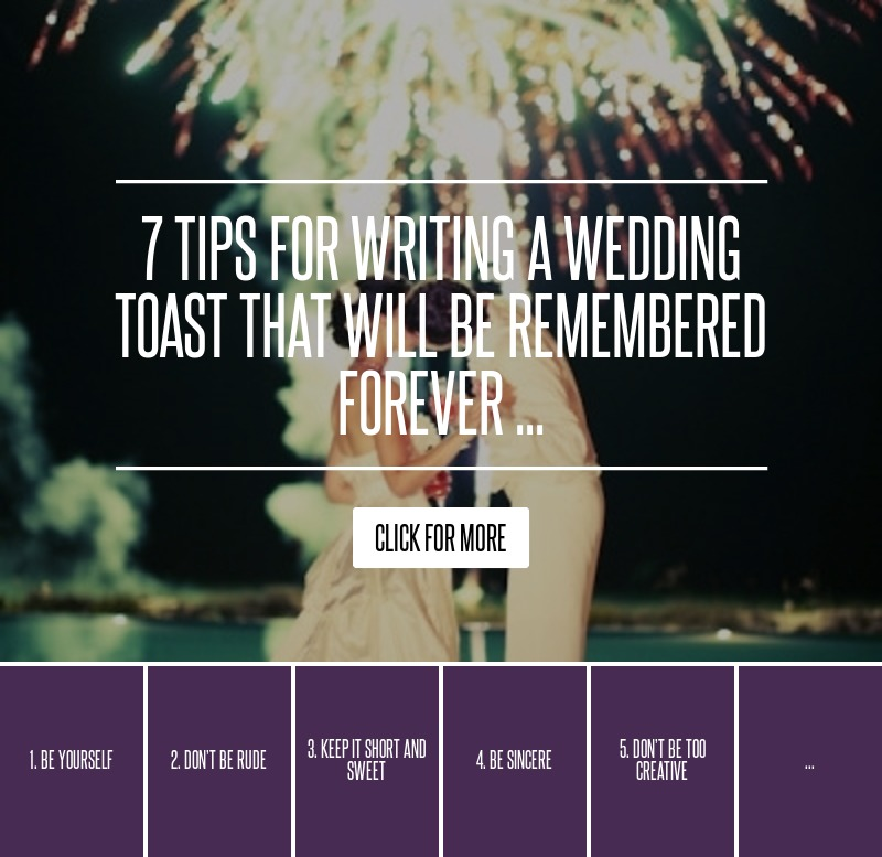7 Tips For Writing A Wedding Toast That Will Be Remembered