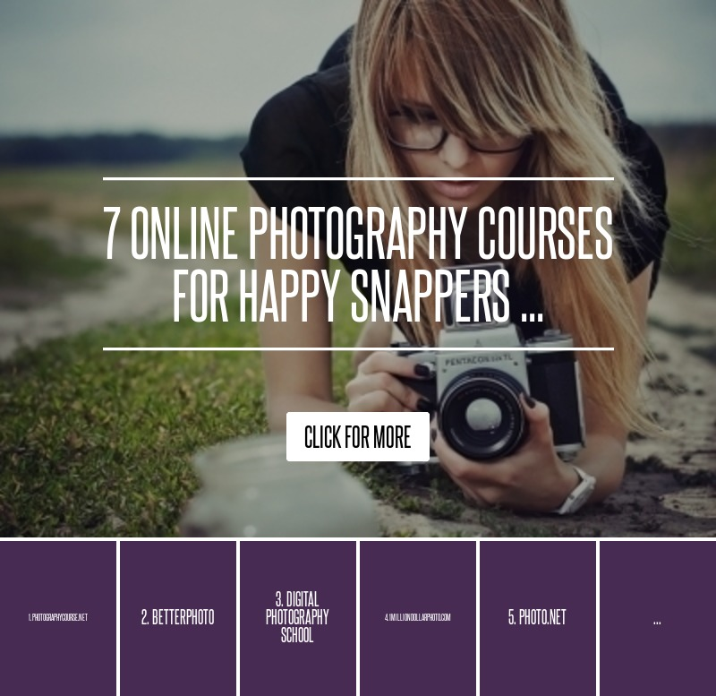 7 Online Photography Courses for Happy Snappers ... → 🔧 DIY