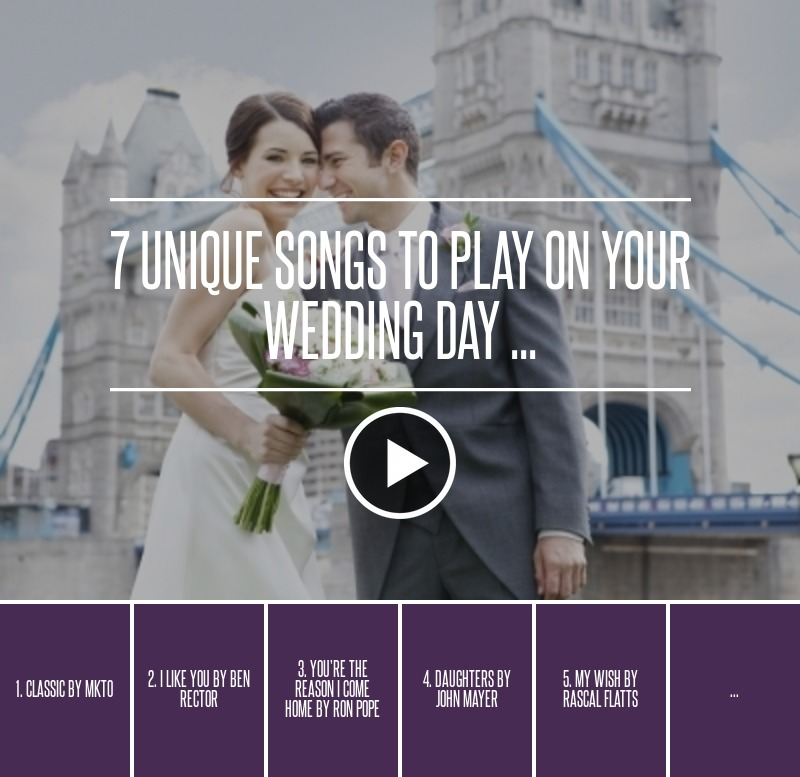 Songs To Play At A Wedding: 7 Unique Songs To Play On Your Wedding Day ... → 🎧 Music