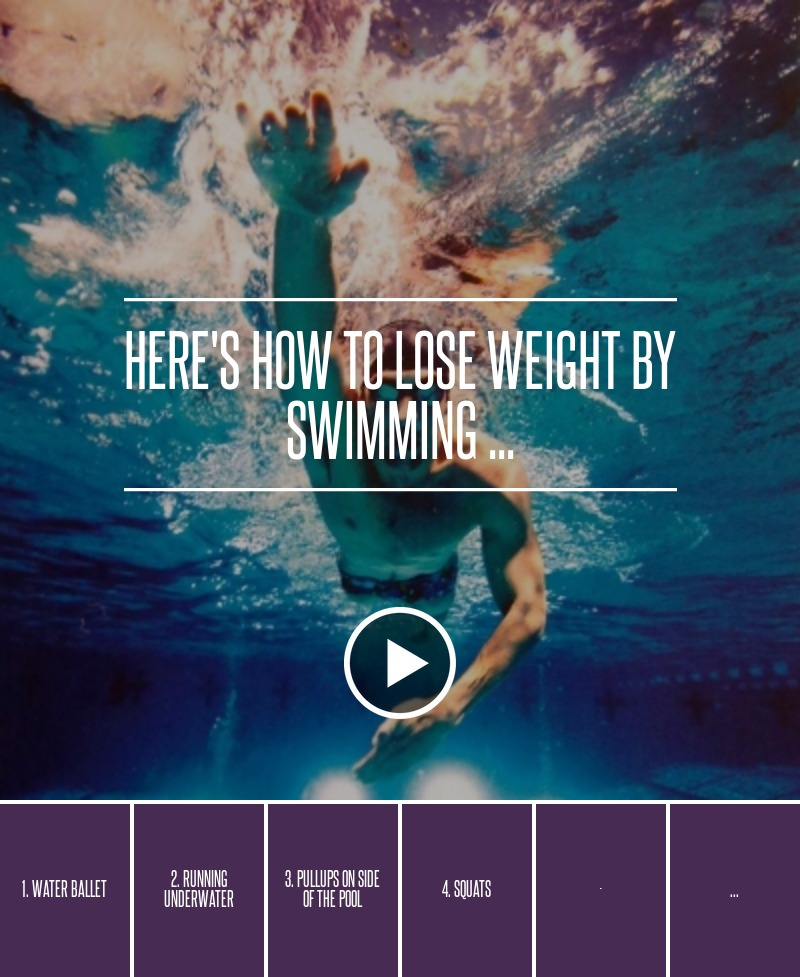 here 39 s how to lose weight by swimming weightloss