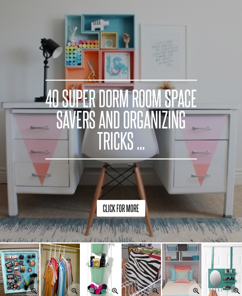 Decorating Ideas > 40 Super Tips And Tricks  ~ 121707_Dorm Room Space Saver Ideas