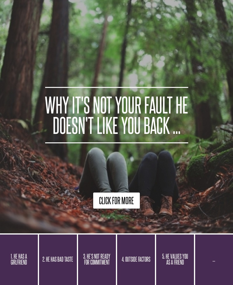 Sad Quotes About Love: Why It's Not Your Fault He Doesn't Like You Back ... → 💘 Love