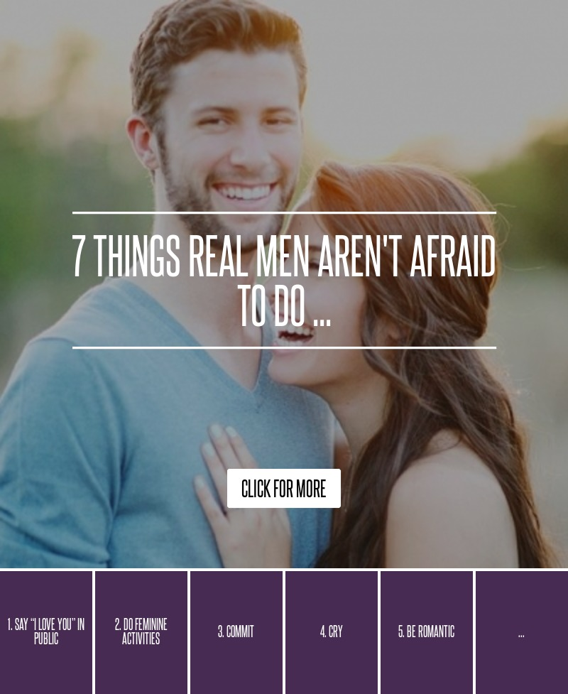 Men who are afraid to love