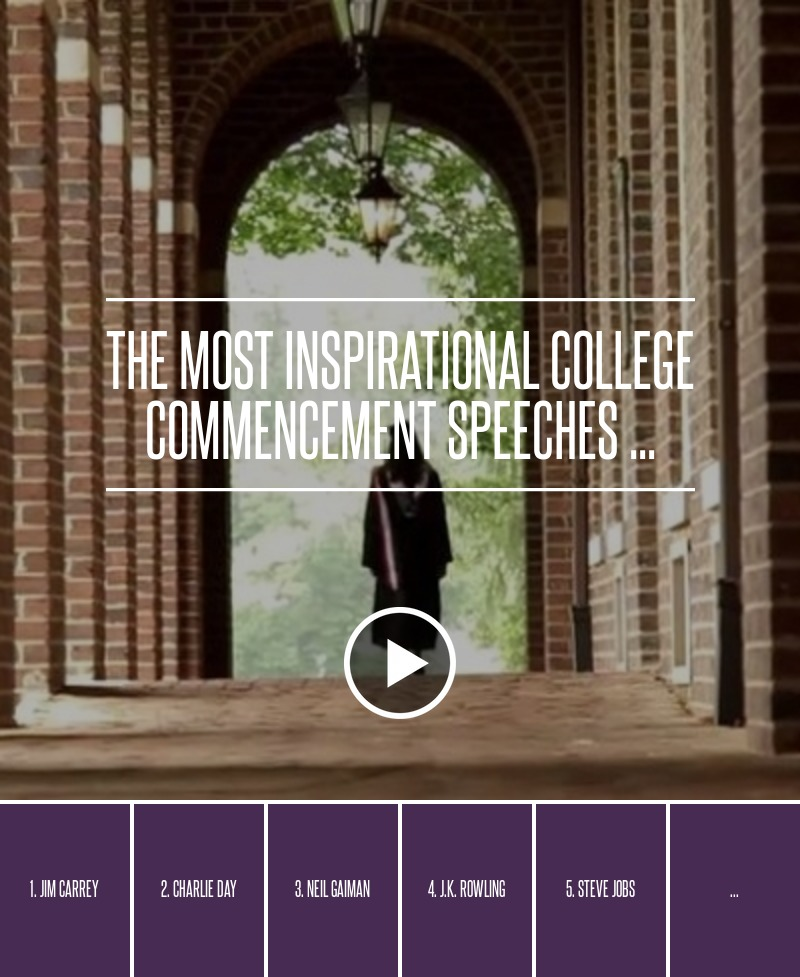 The Most Inspirational College Commencement Speeches ... → 🌟…
